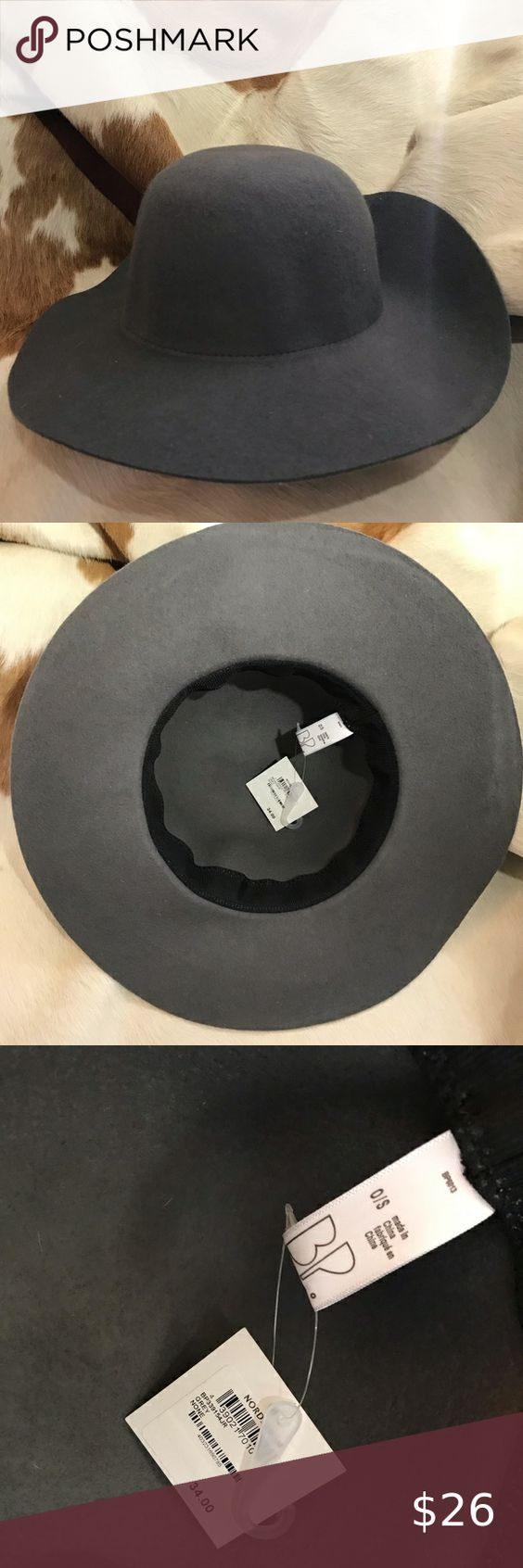 Nwt Floppy Grey Felt Hat Felt Floppy Hat Felt Hat Leopard Print Beanie