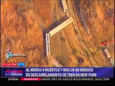 Al menos 4 muertos y más de 60 heridos en descarrilamiento de tren en New York #Video - Cachicha.com