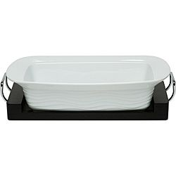 @Overstock - This Red Vanilla oven-to-table rectangular baking dish features raised, subtle waves on the exterior. This 15-inch casserole travels from oven to table with easy-hold, chrome plated handles on a black wooden tray. http://www.overstock.com/Home-Garden/Red-Vanilla-Oven-to-table-15-inch-Rectangular-Baking-Dish/5816954/product.html?CID=214117 $31.99