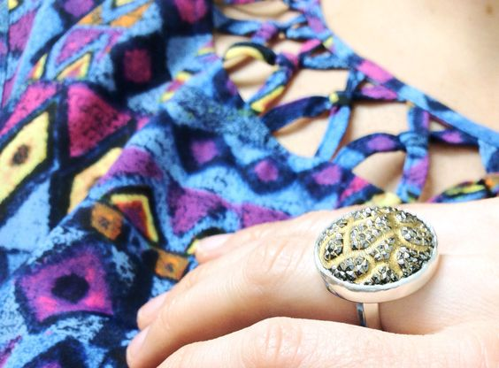 handmade Stardust Ring. $165.00 from Lady Faye Jewelry