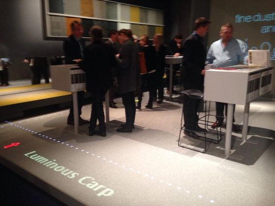 @LuminousCarpets launched in Belgium #interieurkortrijk @PhilipsBeLux @DessoGroup