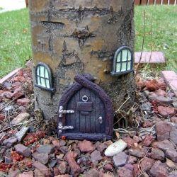 .: Elf House, Cute Ideas, Fairy House, Gnome Home, Front Yard, Fairy Garden