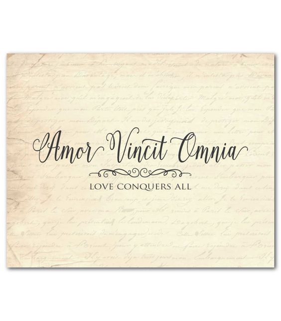 Love Conquers All Latin Translation 42