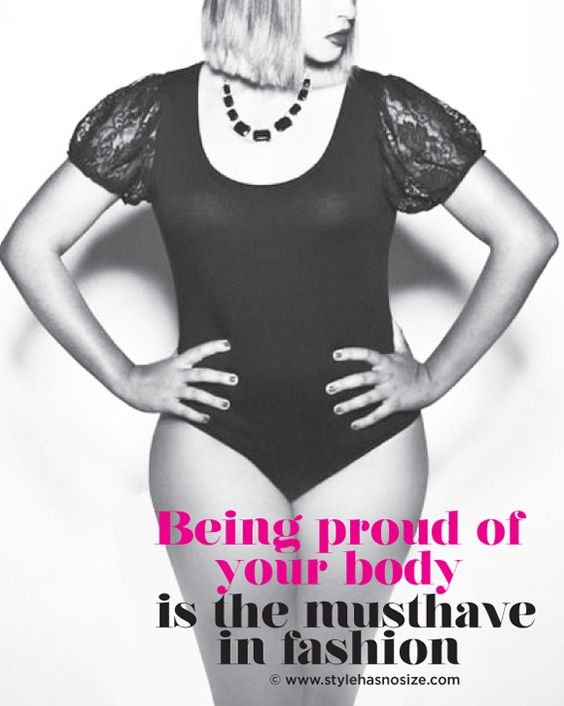 Being proud of your body