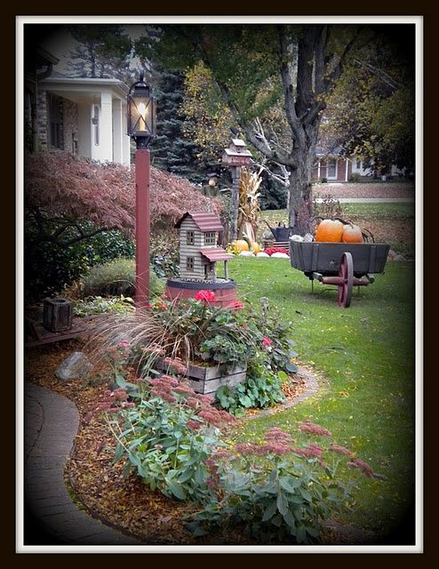 primitive outdoor decorating ideas | Found on ...
