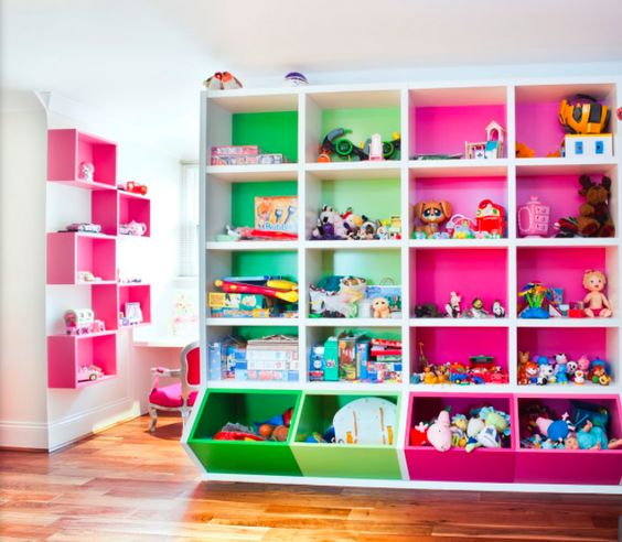 Coloured Shelves for children