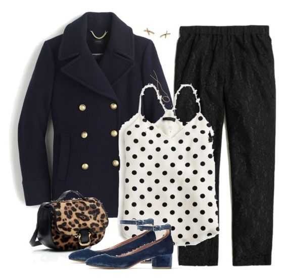 """Navy & black"" by villasba ❤ liked on Polyvore featuring J.Crew and Madewell"