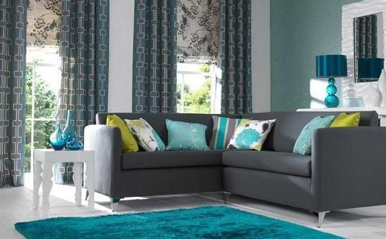 good looking turquoise and grey living room. Gorgeous turquoise and grey living room but I love that painting  potentially for my bedroom Apartment Pinterest Grey rooms Living