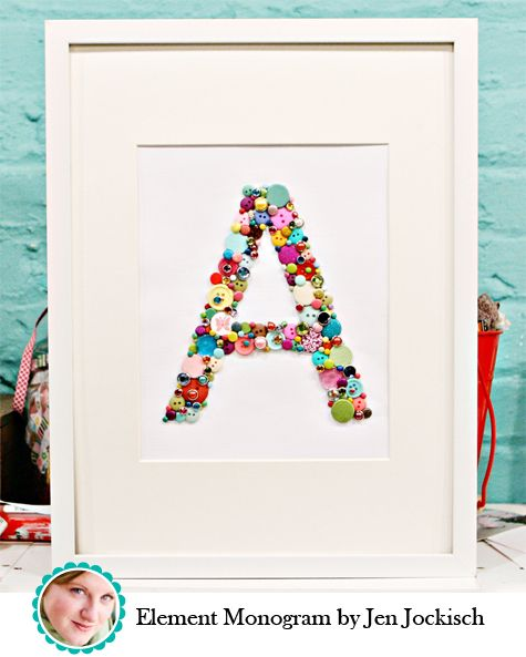 Alphabet Button Craft - great to learn the alphabet with buttons