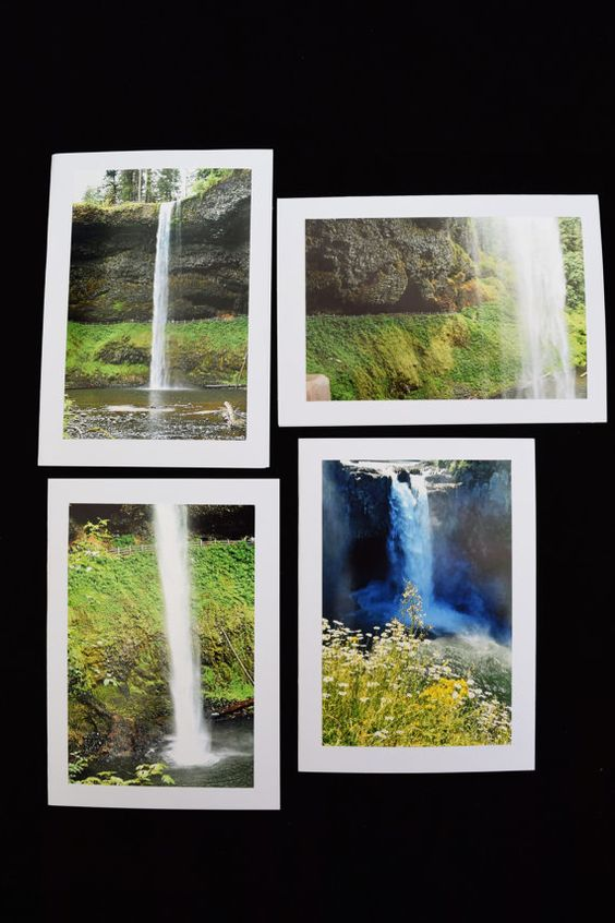 Waterfall Photo Cards Set of 20 River Photos by MitchiesGalleria