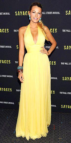 Classic!: Blake Lively, Gossip Girl, Fishtail Braids, Yellow Dress, Dress Blake