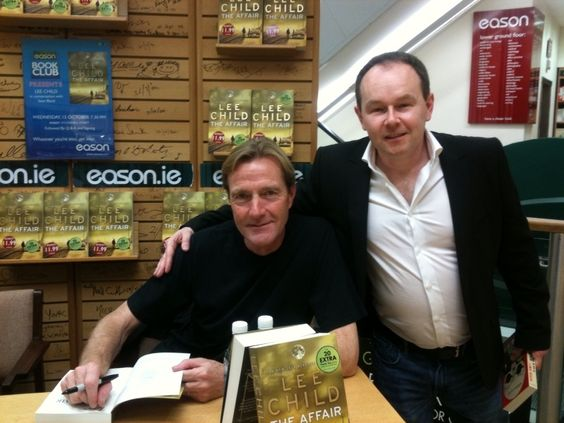 Sean Black and Lee Child on tour promoting The Affair in Ireland
