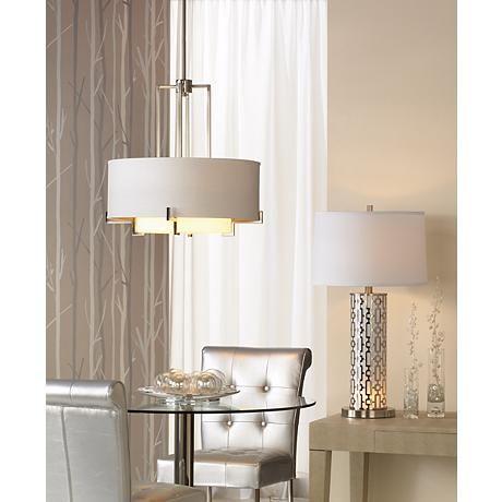 """Possini Euro Design Concentric Shades 25"""" Wide Pendant Light $199 sale"""