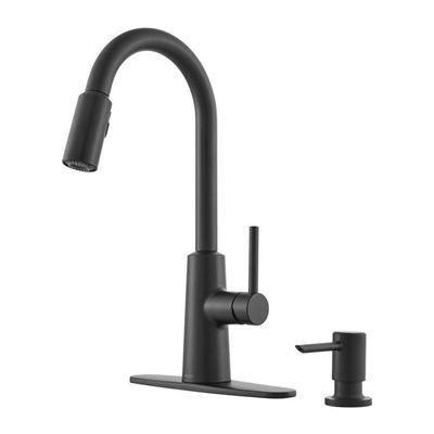 Moen Nori Matte Black 1 Handle Pull Down Kitchen Faucet Kitchen Faucet Moen Kitchen Faucets Lowes