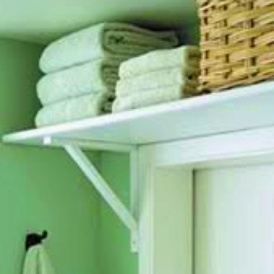 A sneaky way to gain some storage. Perfect in small bathroom or ensuite, even laundry. *