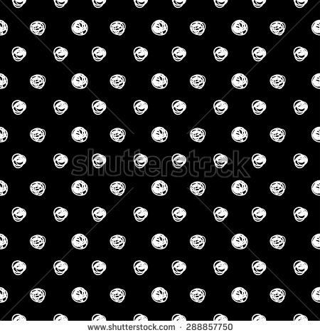 ?lack and white polka dots pattern. - stock vector