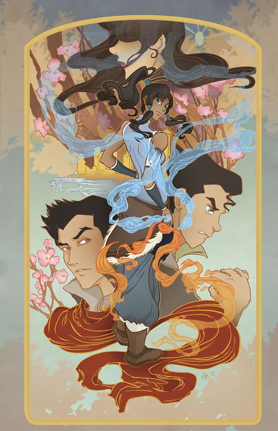Korra Bolin Mako and Asami from the Last Airbender by yienyipfan, $15.00 Pretty....