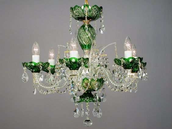 Small green crystal chandelier from our caesar serie ecrystal small green crystal chandelier from our caesar serie ecrystal glorias dreamy candelabrumschandeliers pinterest chandeliers and lights aloadofball Image collections