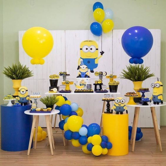 Decoracion De Fiestas Para Ninos 6 Anos Minion Party Decorations Minion Party Minion Birthday Party