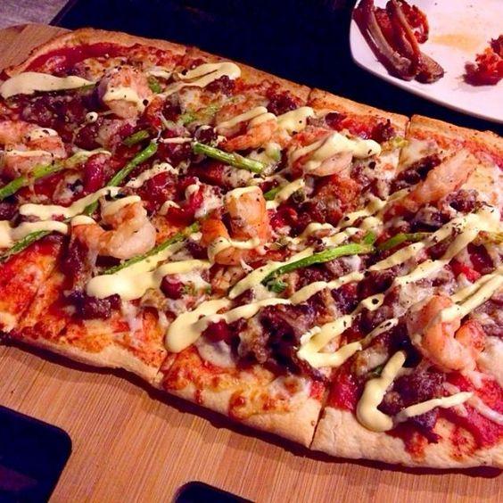 レシピとお料理がひらめくSnapDish - 10件のもぐもぐ - Wagyu beef & prawn pizza by prissy