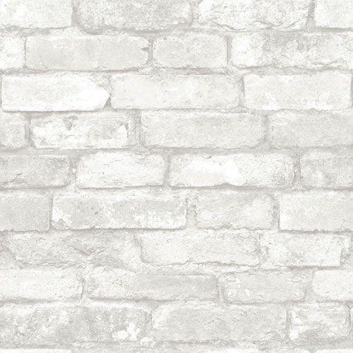 Nuwallpaper Brick Peel And Stick Wallpapear Multi Colour In 2020 Brick Effect Wallpaper Removable Brick Wallpaper White Brick