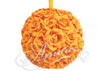 Amazon.com: 12 Inches Silk Pomander Kissing Ball Popsicle Tangerine Orange Tango: Everything Else