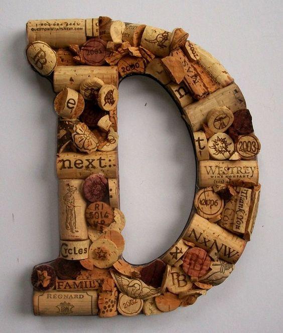 wine cork letter. #corks: