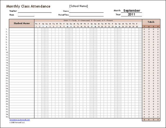 Doc674509 Student Attendance Sheet Template Excel student – Excel Attendance Sheet Download