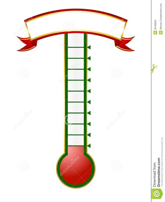 Thermometer Template  More Similar Stock Images Of  Goal