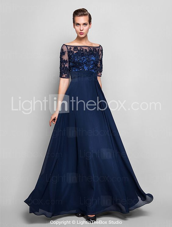 TS Couture® Formal Evening / Military Ball Dress - See Through Plus Size / Petite Sheath / Column Off-the-shoulder Floor-length 2016 - $113.99