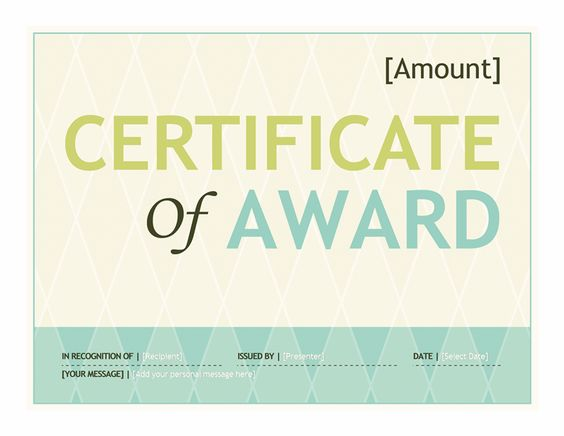 Gift Certificate Template Word 2016 Stuff I Like Pinterest - microsoft word award certificate template