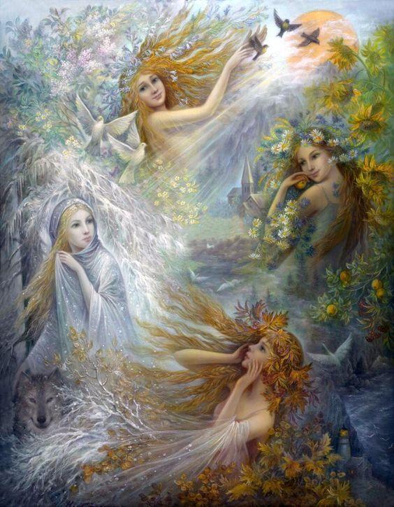 Allegoria della Primavera | TuttArt@ | Pittura * Scultura * Poesia * Musica |Marten Eskil Winge [1825-1896]