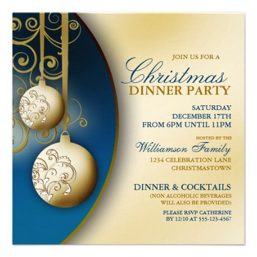 Elegant Christmas Dinner Party Invitation Click on photo to ...