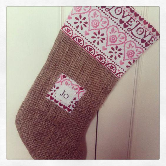 Personalised Christmas stocking #emmabridgewater