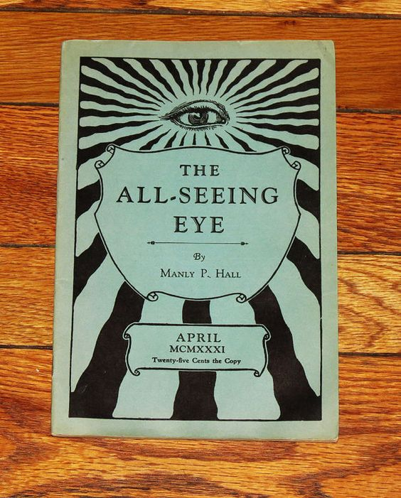 All Seeing Eye 1931 Occult Publication - Manly P. Hall - 1st Edition - Rare Esoteric Rosicrucian and Masonic Booklet - April. $34,00, via Etsy.: