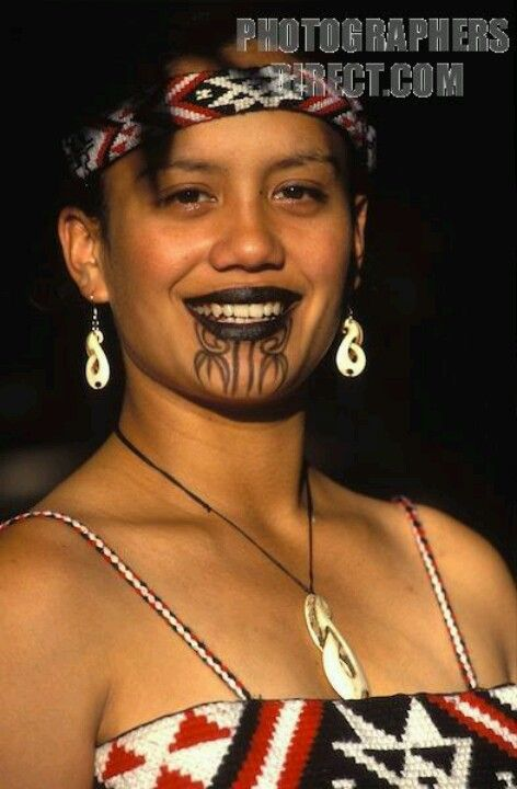 "Maori Face Tattoo Female: Maori Female Tribal Tattoo ""Ta Moko"""