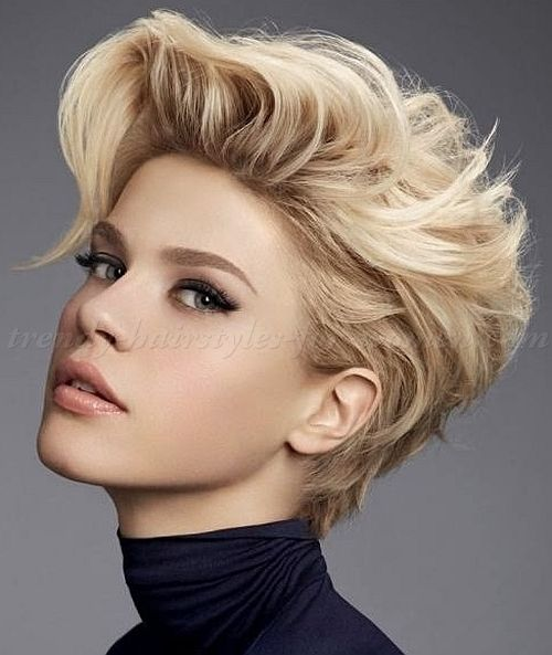 Wondrous Women39S Faux Hawk Short Funky Hairstyles And Buzz Cut Women On Hairstyles For Men Maxibearus