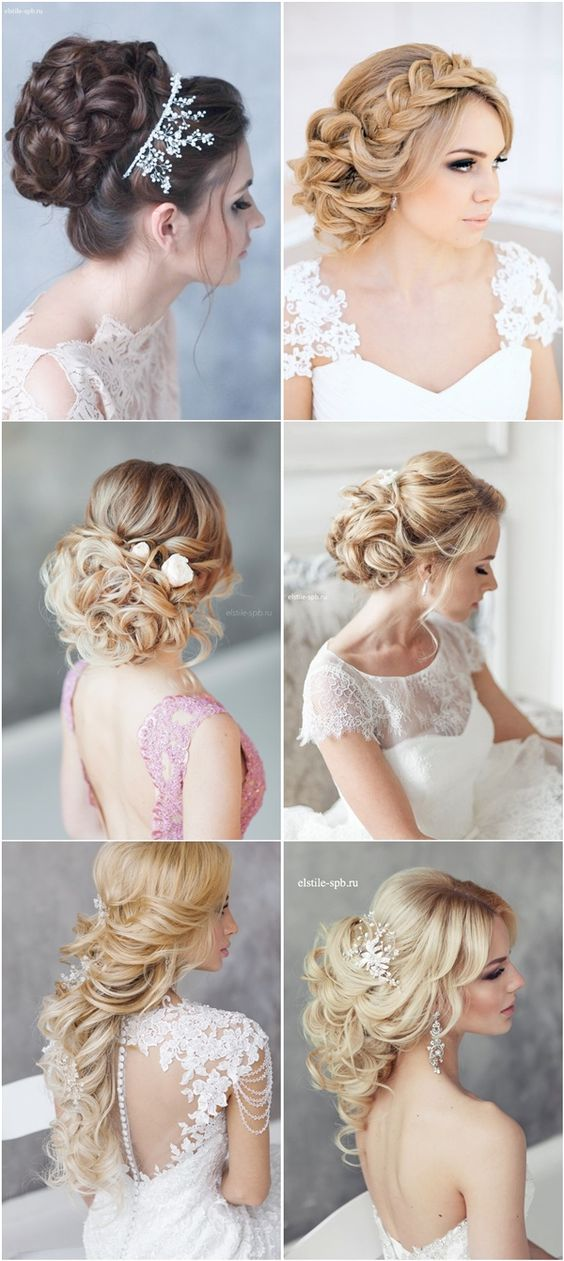 long wedding hairstyles and bridal updo hairstyles / http://www.deerpearlflowers.com/beautiful-wedding-hairstyle-ideas/