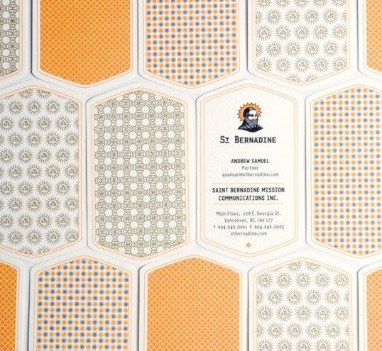 Tarjeta de visita con una forma diferente #Diseño #Patterns
