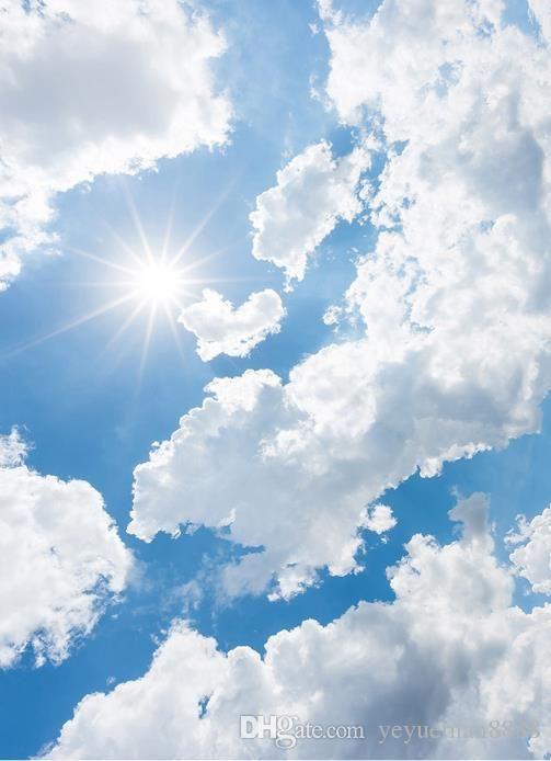 Grosshandel 3d Decke Benutzerdefinierte Blaue Himmel 3d Und Weisse Wolken Radiant Himmel Tapete Fur Decken 3d Tapete Wohnzimmer Tapete Decke Modern Von Yeyueman88 3d Tapete Tapete Wohnzimmer Blauer Himmel