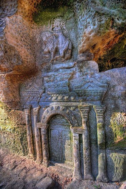 The Dwarf's Door in Český Ráj, near Prague. Better known in my head as the gates to Imdalind.