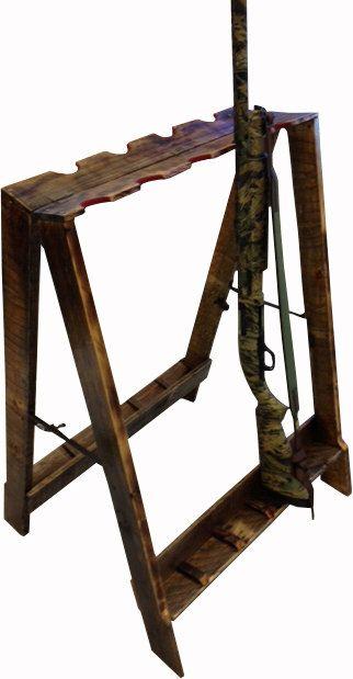 Handmade Portable Gun Rack on Etsy $225 00