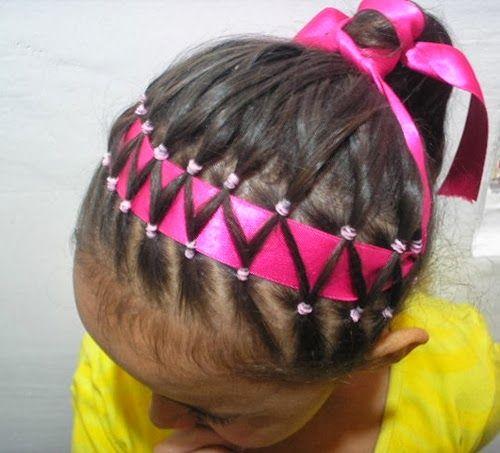 Peinados con Listones para Niñas aqui te decimos paso a paso como se realizan.