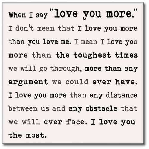 Wall Sign When I Say Love You More Love Sign Wall Love You More Love You Quotes