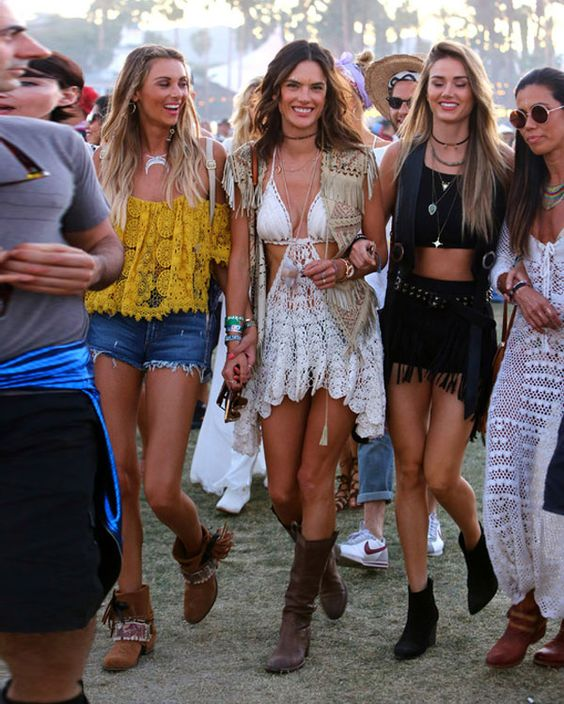 alessandra ambrosio friends look coachella 2016: