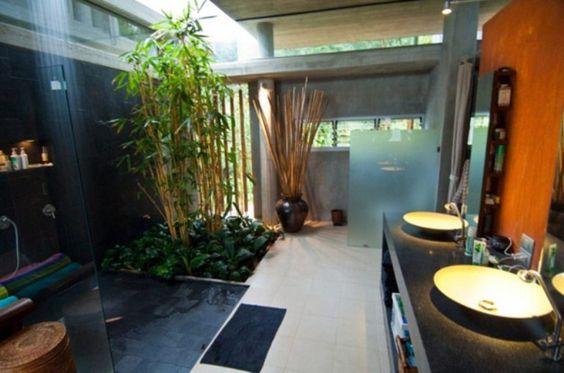 Semi Outdoor Bathroom | Dream Home | Pinterest | Outdoor Bathrooms, Villas  And Square Meter