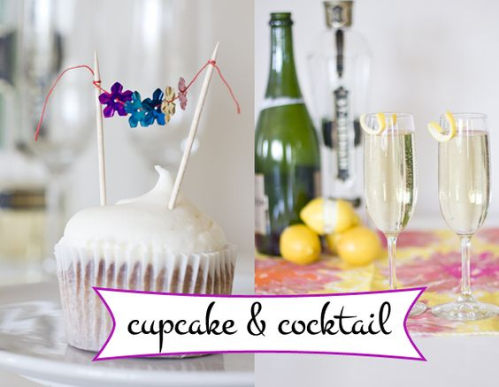 Gluten-free St. Germain Cupcakes from The Sunday Sparkle
