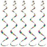 Printed Stripes Twirly Whirlys (5/pkg)