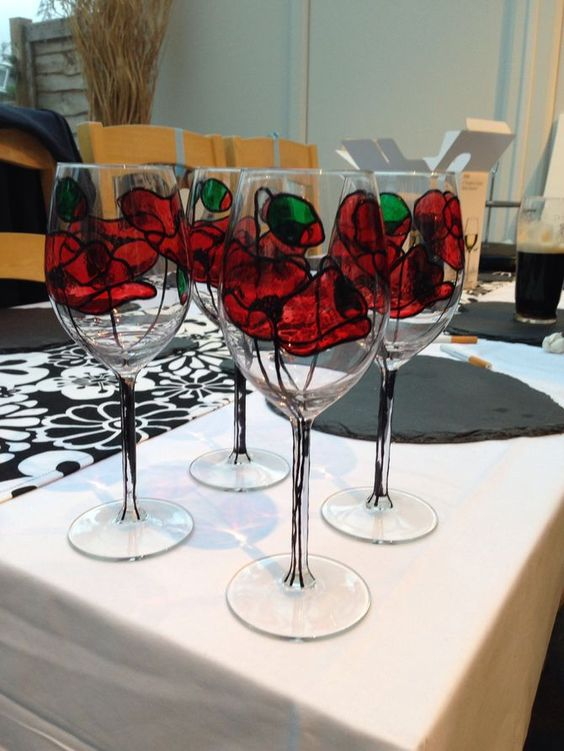 Rage bottle and a video on pinterest for Wine glass painting tutorial