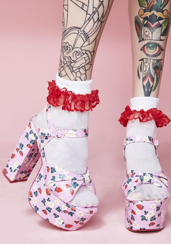 Sugar Thrillz Picked First Platform Sandals | Dolls Kill